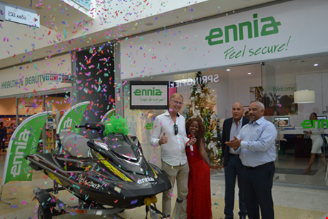 Winner of the WaveRunner prize drawing for ENNIA Boat and Yacht insurance policy holders.